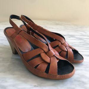 Pikolinos Brown Open Toe Sandals Slingback